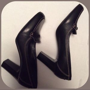 Black Leather Covington heels!